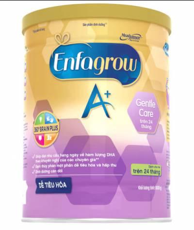 Sữa Enfagrow A+ Gentle Care 800g (trên 2 tuổi)