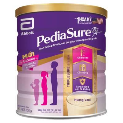 Thực phẩm dinh dưỡng y học Abbott Pediasure 850g hương vani (1-10 tuổi)
