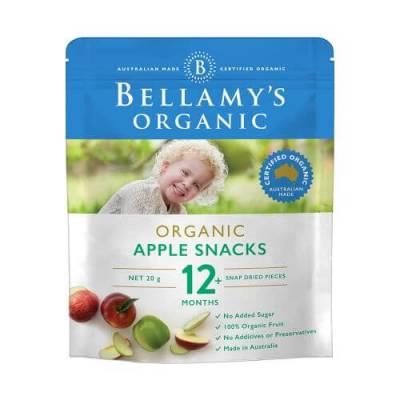 Snacks táo sấy hữu cơ Bellamy's Organic
