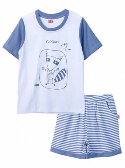 Bộ áo quần thun mặc nhà bé trai ngắn CF B1020021 Trắng