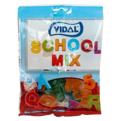 Kẹo dẻo chữ cái và số Vidal - Vidal School Mix Jelly 100g