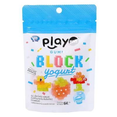 Kẹo dẻo xếp hình vị sữa chua Playmore 64g