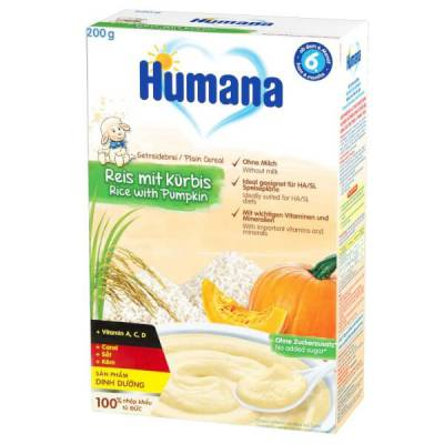 Bột dinh dưỡng ăn dặm Humana Gạo-Bí đỏ - Humana Getreidebrei Reis Mit Kurbis