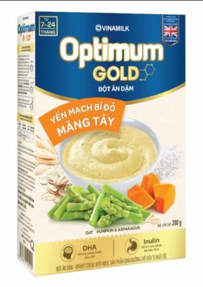 Bột dinh dưỡng Optimum Gold Yến mạch bí đỏ măng tây HG 200g