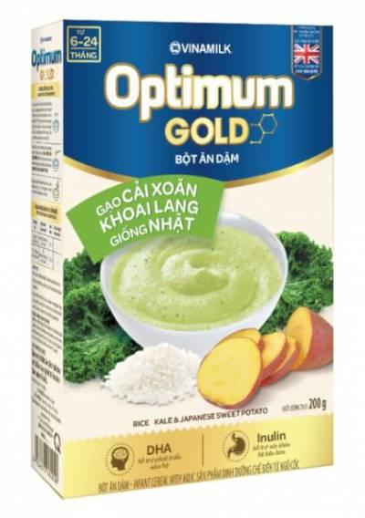 Bột dinh dưỡng Optimum Gold Gạo cải xoăn khoai lang giống Nhật HG 200g
