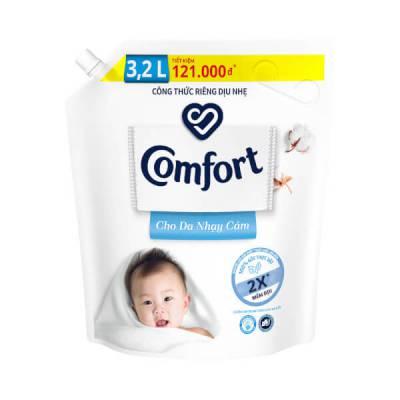 Nước xả làm mềm vải Comfort đậm đặc cho da nhạy cảm, Túi 3.2L