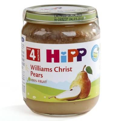 Dinh dưỡng đóng lọ HiPP Organic - Lê wiliams 125g