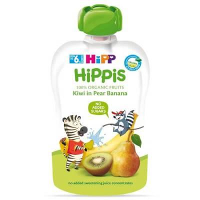 Dinh dưỡng 100% trái cây nghiền hữu cơ HiPPiS Organic (Kiwi, Lê, Chuối)