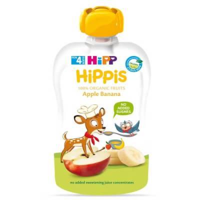 Dinh dưỡng 100% trái cây nghiền hữu cơ HiPPiS Organic (Táo, Chuối)