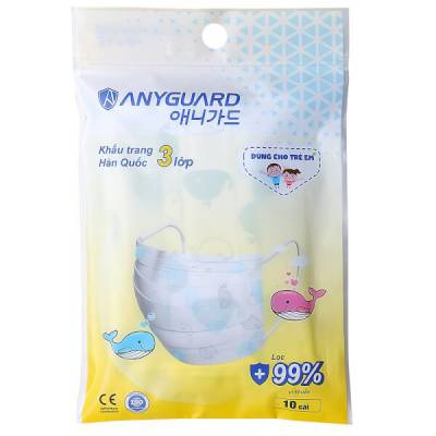 Khẩu trang y tế cho bé Anyguard (10 cái/ túi)