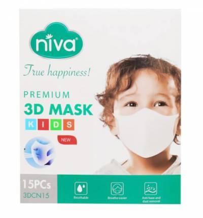 Khẩu trang 3D NIVA Trẻ em hộp 15 chiếc