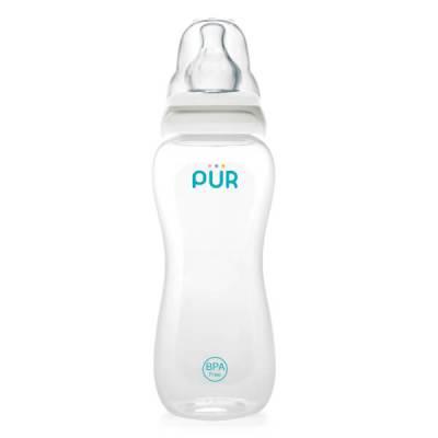 Bình sữa Pur cổ thường Comfort Feeder với van chữ V, 250ml