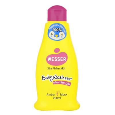 Sữa tắm gội Wesser 2 in 1 (hồng)