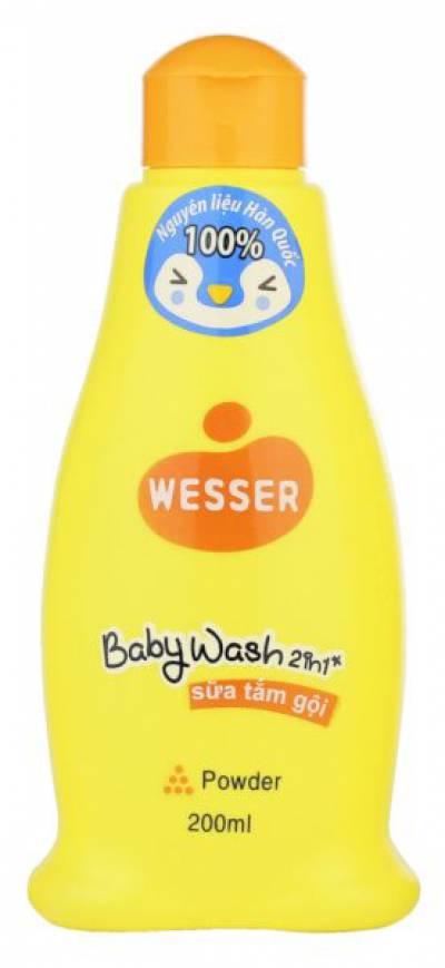Sữa tắm gội Wesser 2 in 1 200ml (cam)