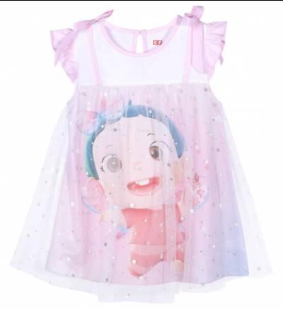 Đầm bé gái mặc nhà CF G1220026 (6M-3Y,Trắng)