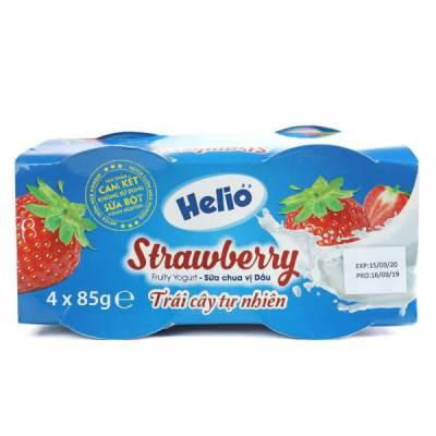 Sữa chua hoa quả Helio vị dâu 85g - Lốc 4