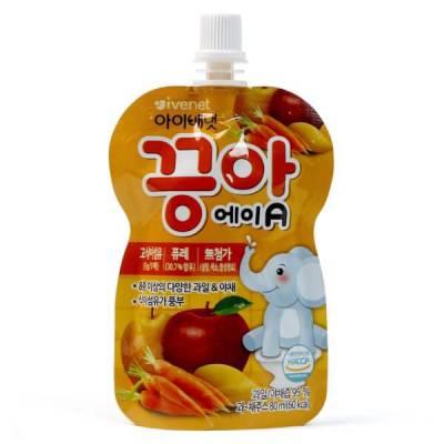 Nước ép hoa quả Ivenet táo, lê, xoài, xoài và cà rốt, 80ml