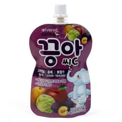 Nước ép hoa quả Ivenet táo, lê, mận và bắp cải, 80ml