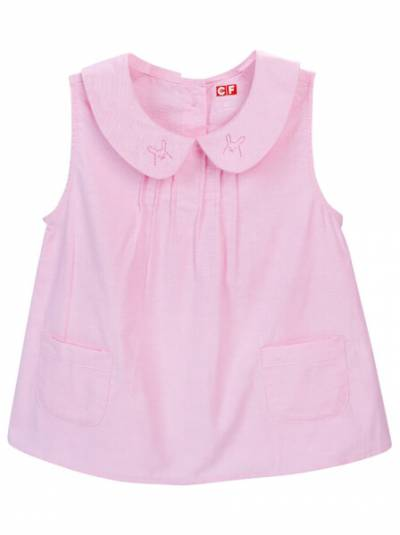 Áo vải bé gái sát nách CF G0320035 (2Y,Hồng)