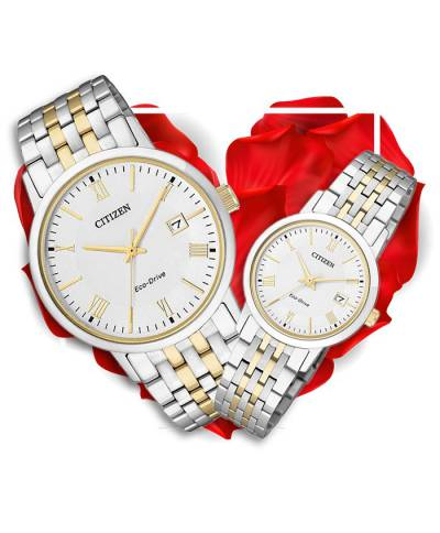 Đồng hồ đôi Citizen BM6774-51A + EW1584-59A