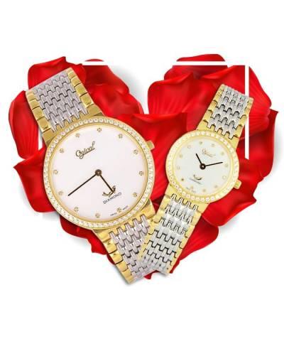 Đồng hồ đôi Ogival OG385-022DGSK-T + OG385-022DLSK-T
