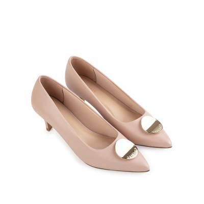 Giày cao gót mũi nhọn đính nơ trang trí BN0145