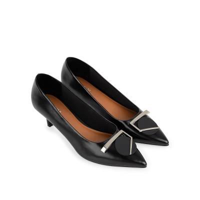 Giày cao gót mũi nhọn phối nơ hình học BN0146