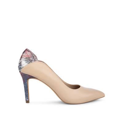 Giày cao gót mũi nhọn phối vân da rắn BN0103