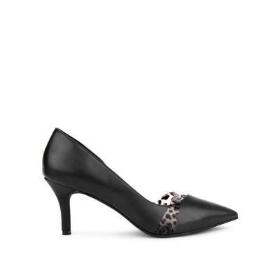 Giày cao gót mũi nhọn phối họa tiết da báo BN0117