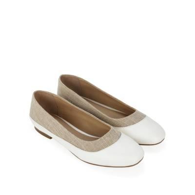 Giày búp bê phối vải tweed BB0048