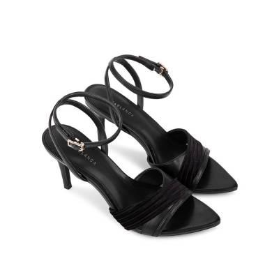 Giày sandal cao gót phối vải SN0109