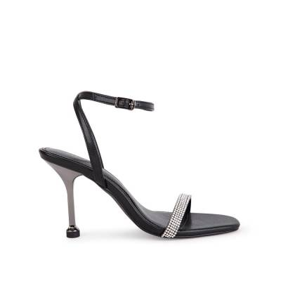 Giày sandal cao gót gót mạ ánh kim SN0122