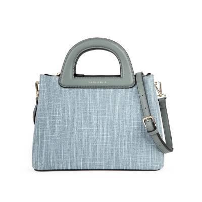 Túi xách tay phối vải tweed HB0097