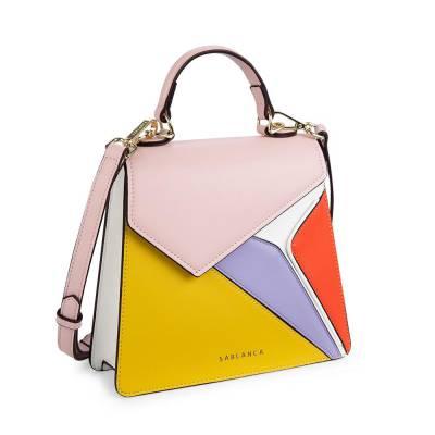 Túi xách tay họa tiết Color block SA0041