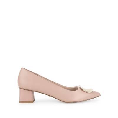 Giày cao gót mũi nhọn đính nơ kim loại BN0143