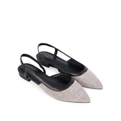 Sandal đế bệt phối vải tweed SK0049