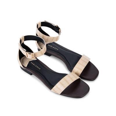 Giày Sandal đế bệt vân cá sấu SK0041