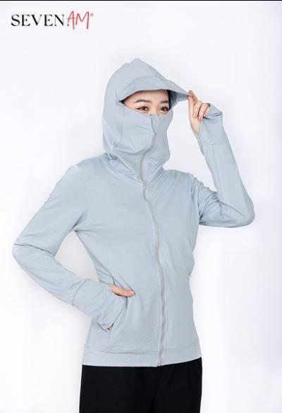 Áo chống nắng Sun Safe màu ghi Z16013A