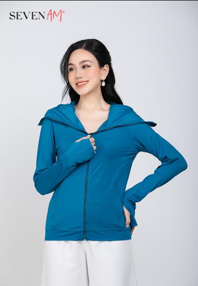 Áo chống nắng Sun Safe màu xanh cổ vịt Z16013A