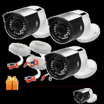 Hệ thống 3 Camera quan sát HS Smart FAMI Full HD 1080 & 1 Đầu ghi hình + Ổ cứng lưu trữ 1 TB   TẶNG: 1 Camera ghi hình cùng loại