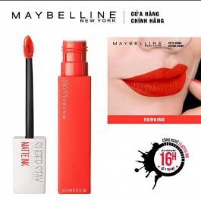 Maybelline - Son Kem Lì Super Stay Matte Ink 5ml - Màu 25 Heroine