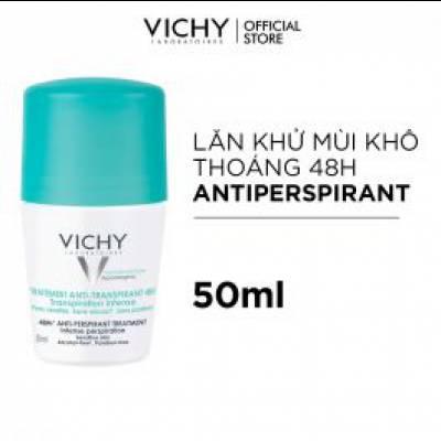 Lăn Khử Mùi Ngăn Mồ Hôi Giữ Khô Thoáng Suốt 48h Vichy Traitement Anti- Transpirant 50ml