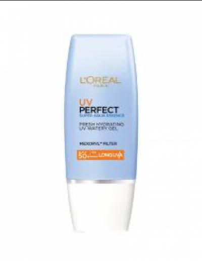Kem Chống Nắng L'Oreal Paris UV Perfect Super Aqua Essence SPF50+ PA++++ 30ml - Dưỡng da sáng trong mịn màng