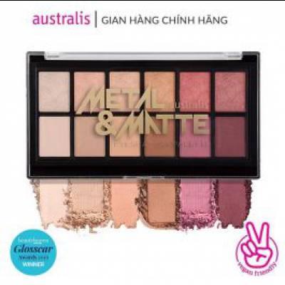 Bảng Phấn Mắt Dạng Nhũ Và Lì Australis Metal And Matte Eyeshadow Palette 12 Màu 9g