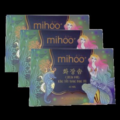MIHOO - Combo 3 Bông tẩy trang Hàn Quốc Bông hộp 80 miếng tiên cá