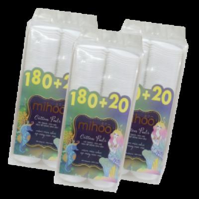 MIHOO - Combo 3 Bông tẩy trang Hàn Quốc Bông tròn 200 tiên cá