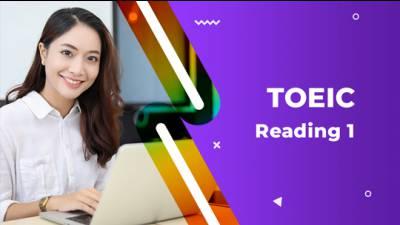 TOEIC Reading 1