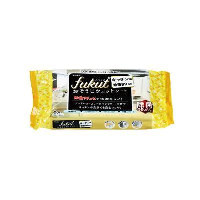 Khăn ướt diệt khuẩn Fukut Nhật Bản 20 miếng – Màu vàng