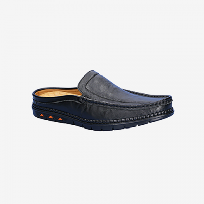 Giày Tây Da Hở Gót Nam Biti's DMM356770DEN (Đen)*