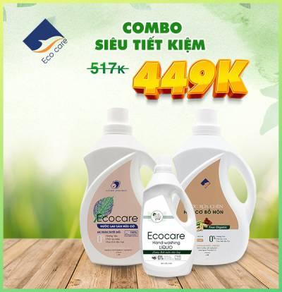 Combo siêu tiết kiệm 2 (Nước rửa chén 2L, Nước lau sàn 2L, Nước rửa tay 1L)